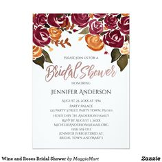 Wine and Roses Bridal Shower