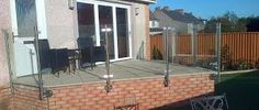 A semi-frameless, post only face mounted glass balustrade system. Available with or without a handrail. Stainless Steel Balustrade, Glass Balustrade, Landscape Designs, Patio, Outdoor Decor, Google Search, Face, Stainless Steel Railing, Terrace