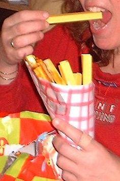 Sinterklaas surprise  patatje met of zonder van papier