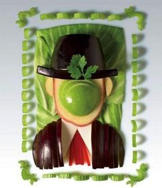 The Son of Man. Food Art-Rene Magritte, I love it!!