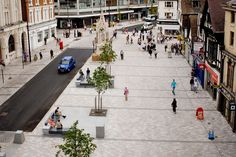 MAIDSTONE HIGH STREET,KENT In collaboration with Letts Wheeler Architects, we won an international competition to redesign Maidstone's historic High Street. The project aims to bring greater civilty to the street, reclaiming large areas of highway to make the street more pedestrian friendly and create attractive places in which people will want to sit and relax.