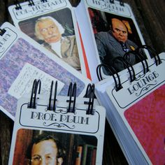 Items similar to CLUE game mini notebooks on Etsy Mystery Dinner Party, Mystery Parties, Dinner Parties, Clue Themed Parties, Birthday Party Themes, Birthday Fun, Halloween Games, Halloween Party, Cluedo