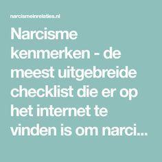 Narcisme kenmerken - de meest uitgebreide checklist die er op het internet te vinden is om narcisten te leren herkennen. One Liner, Life Lessons, It Hurts, Health Fitness, Mindfulness, Tips, Quotes, Om, Internet