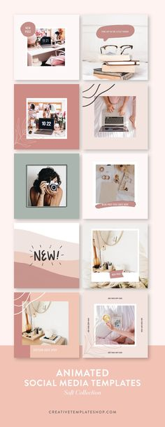 Animated Social Media Templates –Soft Collection | The Shop