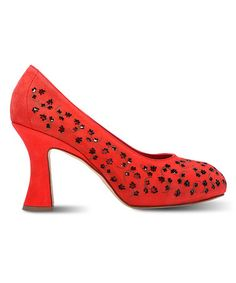 Take a look at this Marchez Vous Red Ines Pump by MARCHEZ VOUS YS on #zulily today!