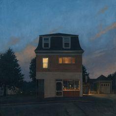 Mansard  - Linden Frederick American,b.1953- oil on linen, 36 x 36 in. (91.4 x 91.4 cm.)
