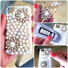 diy pearl iphone case - 10 Easy DIY Craft Projects with Pearls - DIY Crafts Diy Craft Projects, Easy Diy Crafts, Cute Crafts, Handmade Crafts, Craft Ideas, Gift Crafts, Accessoires Iphone, Diy Accessoires, Diy Phone Case