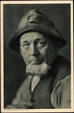 Postkarte Nordseeinsel Helgoland, Aufnahme eines Seemanns #Helgoland