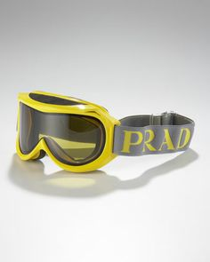 Ski Goggles with Logo Strap by Prada at Neiman Marcus. Ski Sunglasses, Oakley Sunglasses, The Sporting Life, Louis Vuitton Collection, Snow Gear, Ski Fashion, Male Fashion, Ski Goggles, Sports Luxe