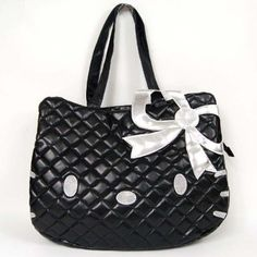 Hello Kitty Head Shaped Tote Shoulder Bag Black:Amazon:Baby