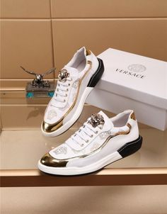 Mens Shoes Boots, Shoe Boots, Casual Sneakers, Casual Shoes, Fake Shoes, Versace Shoes, Shoe Closet, Shoe Collection, Loafers Men