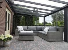 Pergola Kits Attached To House Outdoor Sofa Sets, Outdoor Rooms, Outdoor Living, Outdoor Furniture Sets, Outdoor Decor, Lounge Furniture, Pergola With Roof, Patio Roof, Backyard Patio