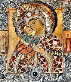 * Virgen de VladÍmir   * Anónimo   * Principios del Siglo XII  * Arte Bizantino