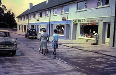 """""""Monastery road, Clondalkin, 1965 Many thanks to , who's father David O'Sullivan took the image. Old Pictures, Old Photos, Vintage Photos, Cork Ireland, Dublin Ireland, Photo Engraving, Military Women, England Uk, Back In The Day"""