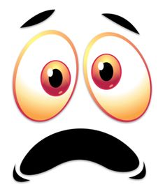This clip art image shows a crazy scared face. Funny Emoji Faces, Emoticon Faces, Cartoon Faces, Doll Eyes, Doll Face, Powerpoint Clip Art, Scared Face, Naughty Emoji, Tv Head