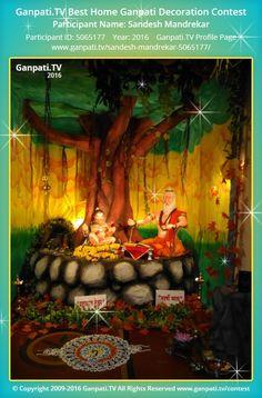 Sandesh Mandrekar Page on Ganpati.TV where all Ganpati festival decoration pictures and videos are shared. Ganpati Decoration Theme, Gauri Decoration, Ganapati Decoration, Diwali Decorations, Festival Decorations, Decorating With Pictures, Decoration Pictures, Ganpati Picture, Ganesh Chaturthi Decoration