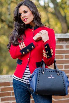 Chaquera roja militar The Extreme Collection Crimenes de la Moda
