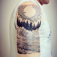 lisaorth · Alleged Tattoo Northwest scene for Derek, his first tattoo