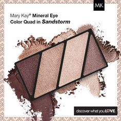 Take the guesswork out of looking gorgeous! Mary Kay Mineral Eye Color Quad in Sandstorm looks gorgeous on ALL skin-tones: www.marykay.com/LaShon