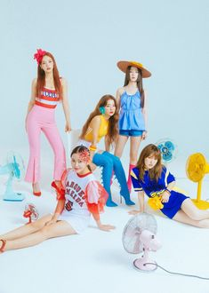 Red Velvet slays the summer concept with new teasers! ⋆ The latest kpop news and music Seulgi, Kpop Girl Groups, Kpop Girls, Velvet Wallpaper, Kim Yerim, Red Velvet Irene, Black Velvet, Snsd, Korean Girl