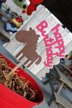 Pony party decoration