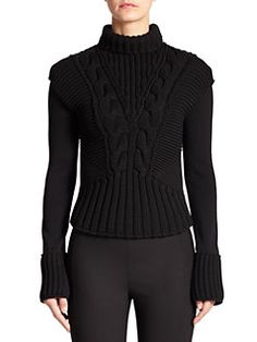 Alexander McQueen - Cable-Knit Convertible Sweater