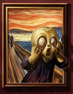 0357 Antonio de Luca - The Scream VS Mona Lisa (Solo The Scream)