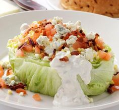 Mortons has the BEST wedge salad I've ever had. lettuce wedge with bacon,tomatoes, hard boiled egg and homemade bleu cheese dressing. Healthy Recipes, Great Recipes, Cooking Recipes, Favorite Recipes, Easy Cooking, Cooking Tips, Cooking Steak, Family Recipes, Family Meals