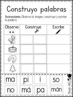 Genial material construyo palabras para primer y segundo grado de primaria | Material Educativo