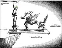 Antes de se sentir superior, verifique sua posição.    Arte: Mana Neyestani