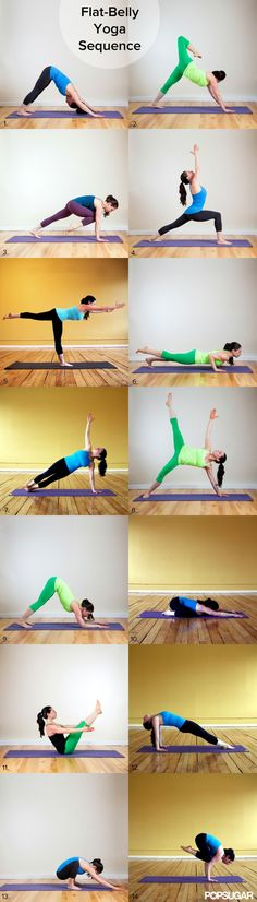 Flat Belly Yoga Sequence #fitness #workout #exercise #printable #Yoga
