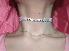 Hey, I found this really awesome Etsy listing at https://www.etsy.com/listing/254482415/unicorn-choker-necklace-pastel-goth