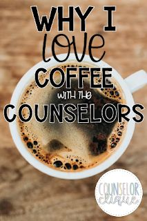 We host Coffee with the Counselors each quarter where school counselors or guest speakers get to share social/emotional resources with parents. It's always interactive and a good time for all involved! School Counselor Office, School Guidance Counselor, High School Counseling, Elementary School Counselor, Counseling Office, School Social Work, School Office, School Counselor Organization, School Counsellor