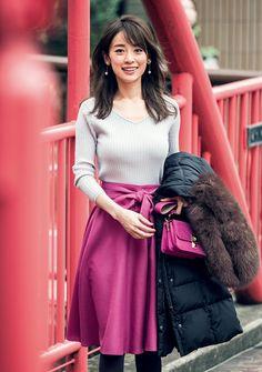 Japanese Beauty, Asian Beauty, Sexy Women, Women Wear, Japan Model, Aesthetic People, Modest Outfits, Flare Skirt, Skirt Fashion