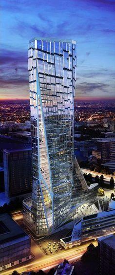 Tour Bioclimatique, Paris by UNStudio :: 48 floors, height 194m