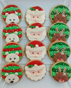 fun christmas cookie Learn how to make easy and fun Christmas treats for kids to make - sugar cookies! These recipes are super easy to make and will make the perfect holiday desserts over the festive season! Christmas Biscuits, Christmas Sugar Cookies, Holiday Cookies, Holiday Desserts, Snowman Cookies, Fancy Cookies, Iced Cookies, Royal Icing Cookies, Cupcake Cookies