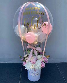 Diy Hot Air Balloons, Small Balloons, Bubble Balloons, Baby Shower Balloons, Birthday Balloon Decorations, Birthday Balloons, Birthday Party Decorations, Baby Shower Decorations, Balloon Arrangements