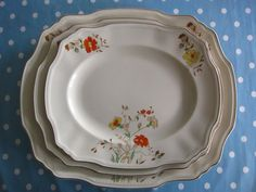 Vintage platter trio Alfred Meakin platter by Vintage Kitchenware, Vintage Plates, Serving Plates, Alfred Meakin, Afternoon Tea Parties, Platter, Tray, Cottage Chic