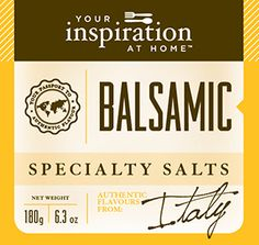 Balsamic Specialty Salt #yiah #specialtysalt  Classic flavours for fish and chips or fries, seafood, poultry.