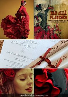 Flamenco Red #red, #black, #flamenco,