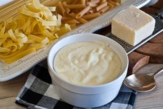 This homemade alfredo sauce recipe is so much better than anything you could buy in the store. It& rich, creamy, and satisfying, made with real food ingredients. Mayonnaise Recipe, Homemade Mayonnaise, Homemade Sauce, Milk Recipes, Sauce Recipes, Whole Food Recipes, Cooking Recipes, Alfredo Sauce Recipe Easy, Sauces