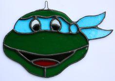 Leonardo Ninja Turtle Stained Glass