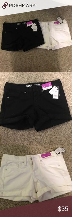 Target brand mid rise white and black shorts Buy together or separate $20 each or $35 together! Mossimo Supply Co. Shorts Jean Shorts