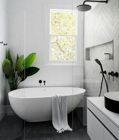 Repost @mint_empire create this bathroom look with our olivia stone bath, toki vanity & borra basin.