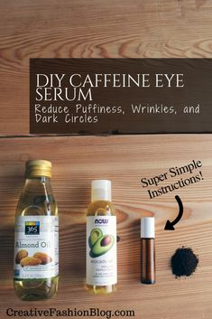 An Organic Eye Cream Tutorial DIY Caffeine Infused Eye Serum. This all natural serum helps with puffiness, fine lines, and dark circles. Homemade Skin Care, Diy Skin Care, Homemade Beauty, Skin Care Tips, Homemade Eye Cream, Homemade Facials, Diy Organic Beauty Recipes, Organic Eye Cream, Organic Skin Care