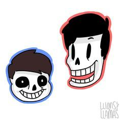 Dan and Phil as Sans and Papyrus!