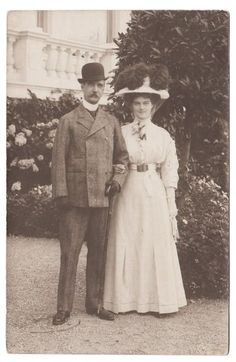 King George I of Greece and grand daughter , Princess Wilhelm of Sweden, neé Grand duchess Maria Pavlovna, the younger.