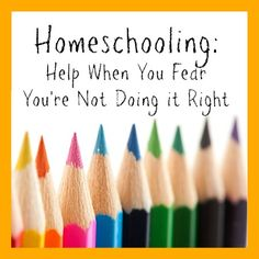 Homeschool help when you fear you're not doing it right....for all my homeschool mom friends!