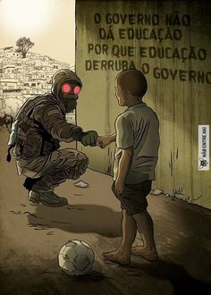 """""""The government does not give education because Education takes down a government"""" ~~ isnt exactly an accurated translation Cyberpunk, Cthulhu, Satire, Oeuvre D'art, Illustration, Concept Art, Sci Fi, Character Design, Nerd"""