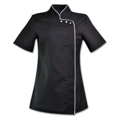 Nursing Uniforms, Black Tops, Black And White, East London, Chef Jackets, How To Wear, Fashion, Madrid, Black White
